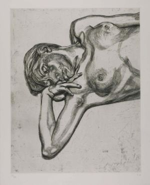 Lucian Freud, Head and Shoulders of a Girl, 1990. Etching, 78 x 63,5 cm © The Lucian Freud Archive/Bridgeman Images, UBS Art Collection