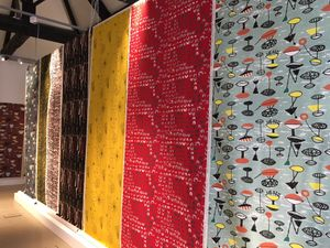 Gallery setup - Lucienne Day: Living Design at New Brewery Arts