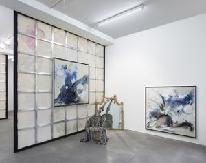Installation view, Lucy Dodd, 'Lake in the Sky', Sprüth Magers, Berlin, April 29 - June 17, 2017 Courtesy Sprüth Magers Photography by Timo Ohler