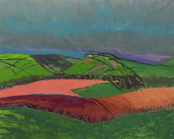 Lucy Jones, Fields in the Pink, 2018, Oil on canvas