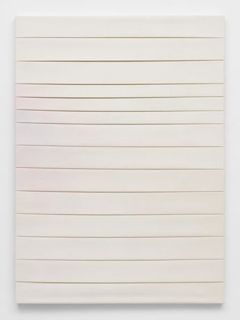 Luke Diiorio,  Untitled, 2014,  pigment and bleach on canvas, 121.9 x 91.4 cm, 48 x 36 in