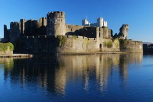 The iconic Caerphilly Castle