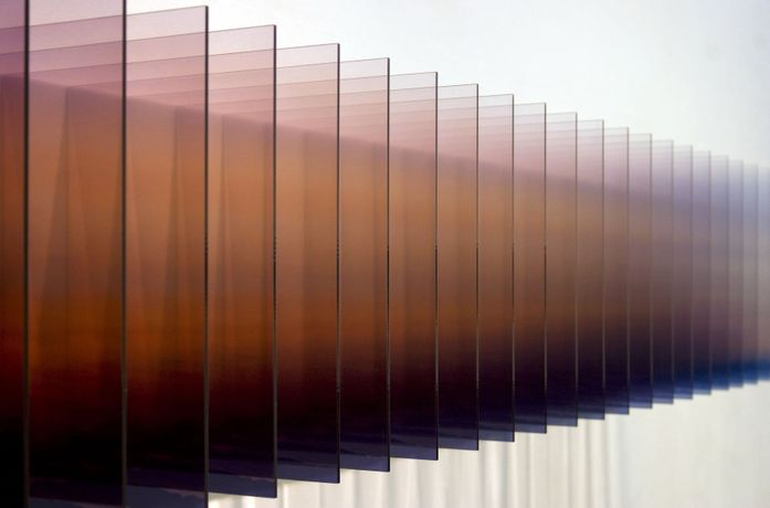 Nobuhiro Nakanishi, Layer Drawing - Light of the Sunrise 1, 2012, mixed media sculpture, 28.5 x 198 x 31 cm.