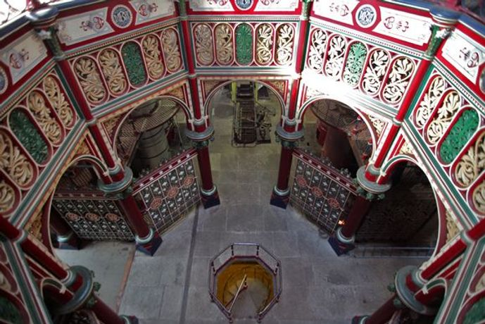 The interior of Crossness Pumping Station