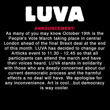 LUVA Licks: [Inter]Dependence and the artist run space: Image 1