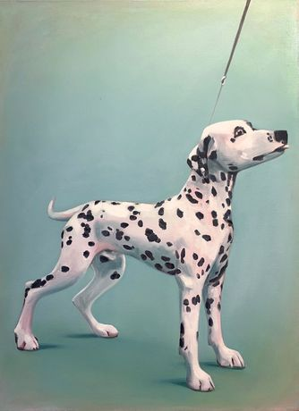 Lydia Blakeley. Dalmatian, 2020. Oil on canvas, 29 1/2 x 21 5/8 inches (75 x 55 cm)