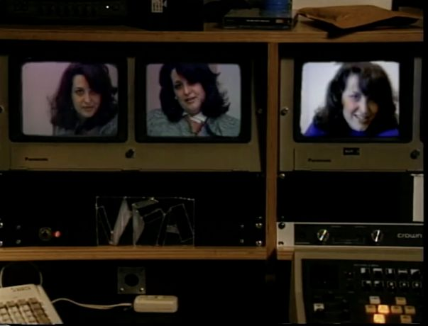 Lynn Hershman Leeson, still from First Person Plural, the Electronic Diaries of Lynn Hershman (1984–96)