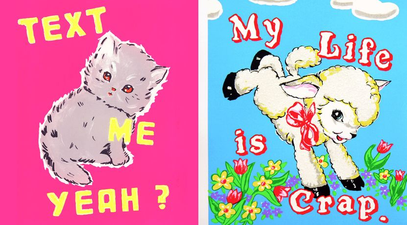 Magda Archer 'Text Me Yeah?' and 'My Life Is Crap' Screenprint