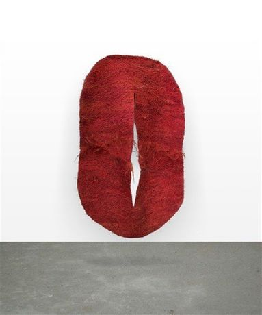Abakan Rouge III, 1971 sisal weaving 127 x 78 3/4 in., 322.6 x 200 cm