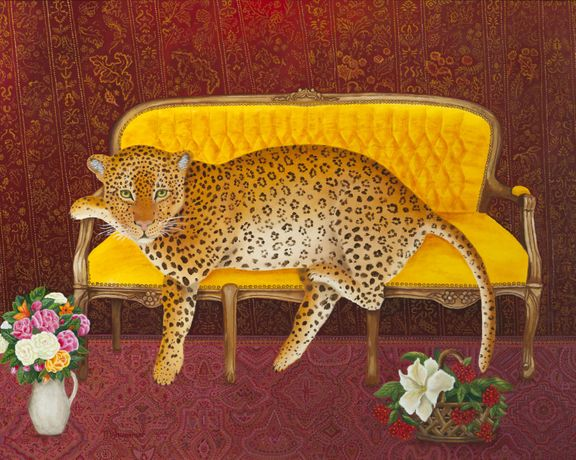 Magdalena Shummer-Fangor, Relaxing, 1999, Oil on board, 38 x 48 cm