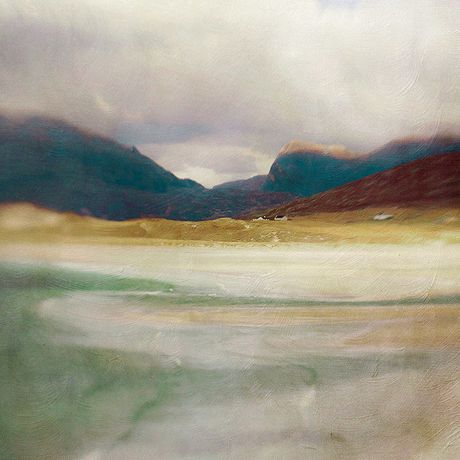 Luskentyre Bay Harris Cath Waters Limited Edition Print 46 x 46 cm
