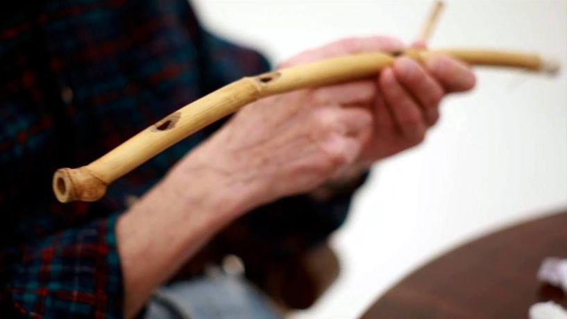 Making bamboo reed flutes: workshop with Terry Day: Image 0