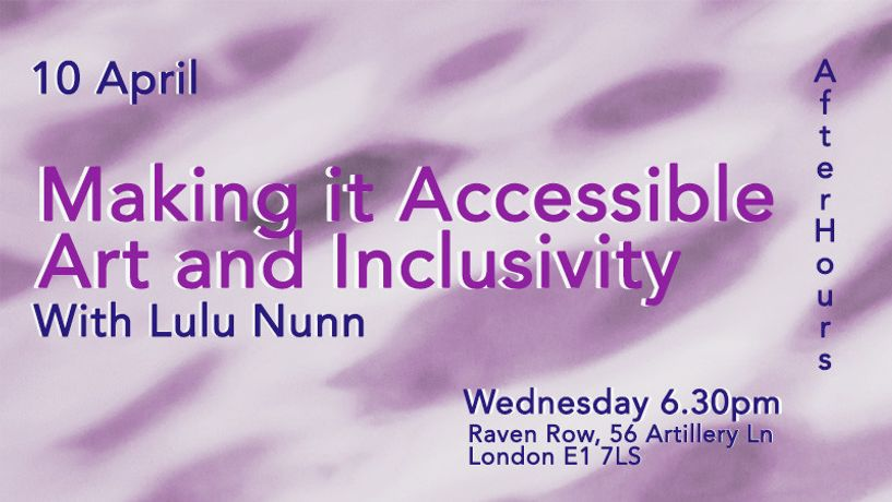 Making it Accessible: Art and Inclusivity: Image 0