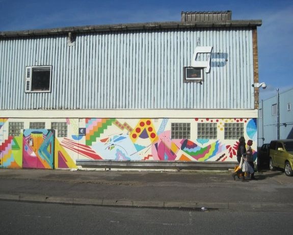 Part of Kenor and Zosen mural for Manorism