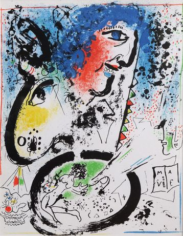 Marc Chagall, Self Portrait, Lithograph