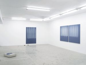 Marie Lund Dip Installation view, Laura Bartlett Gallery, London, 2014