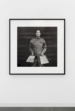 Marina Abramović, The Cleaner, 2017, Fine Art Pigment print on Hahnemuhle ultra smooth paper, 97.4 x 97.4cm, © Marina Abramovic; Courtesy Lisson Gallery. Photographer: Dawn Blackman