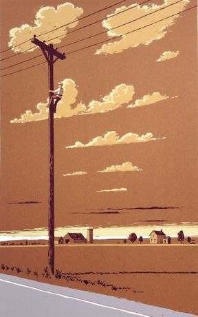 'Wichita Lineman' (silkscreen print)