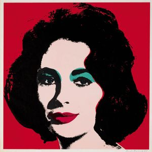 Andy Warhol Liz, 1964 (#7) 1964 hand-signed offset lithograph image size/ 22 x 22, Lot #138