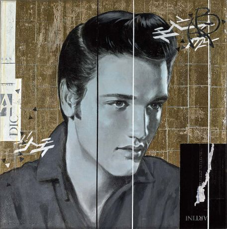 Francois Fressinier, Love Me Tender, oil and mixed media on Canvas, 30 x 30 inches