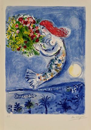 Mark Chagall, The Bay of Angels, hand-signed lithograph