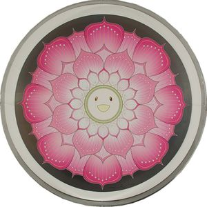 Takashi Murakami, Lotus Flower - Pink 2008, offset print with cold stamp and high gloss varnish image size, 28 diameter