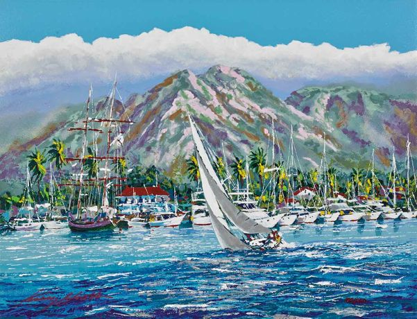 Kerry Hallam, Ocean Breeze (Lahaina Harbor)