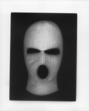 Martin Seeds. Masks (2019). Unique silver gelatin contact print.