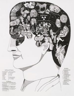 Martin Wilner, 'Phrenology', 2005. Ink on Paper, courtesy of the artist and Darren Aronofsky