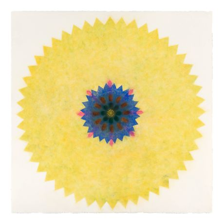 Mary Judge, Pop Flower 31, 2016, powdered pigment on paper, 30 x 30 inches (unframed), 33.75 x 33.75 inches (framed), $3850. (framed)