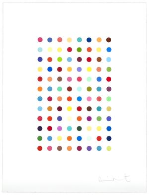 Damien Hirst - Xylene Cyanol Dye Solution