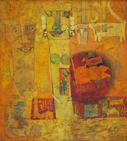 J. Sultan Oil on canvas Year:1967 Size 37 x 33.2 in. (94 x 84.3 cm.)