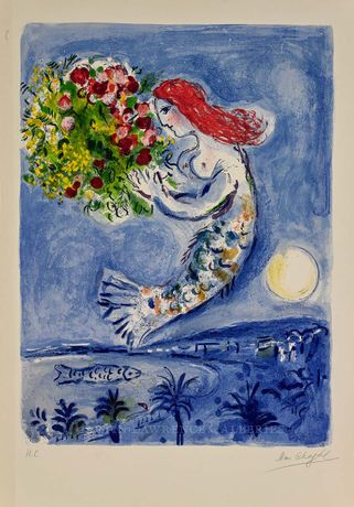 Marc Chagall, Bay of Angels (M.350), hand-signed lithograph, 30.5 x 22.5 inches