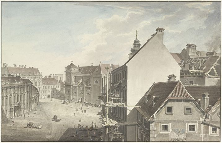 Carl Schütz, The Freyung in Vienna, ca 1787; The Albertina Museum, Vienna