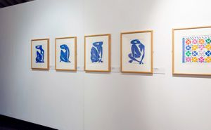 Installation view: Matisse: Drawing with Scissors Late Works 1950 - 1954, a Hayward Touring exhibition. From Henri Matisse, Verve, Lithographic reproductions, 1952