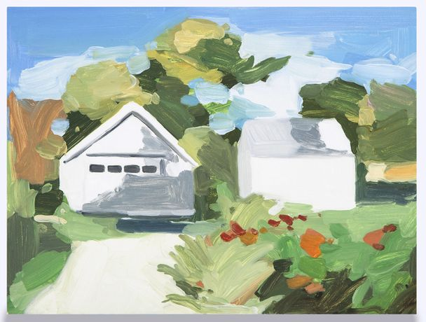 Maureen Gallace, Summer Shade  2013, Oil on panel 9 × 12 (22.9 × 30.5 cm) The Durham Collection, Denver, Colorado Photo by David B. Smith. Image courtesy the artist and 303 Gallery.