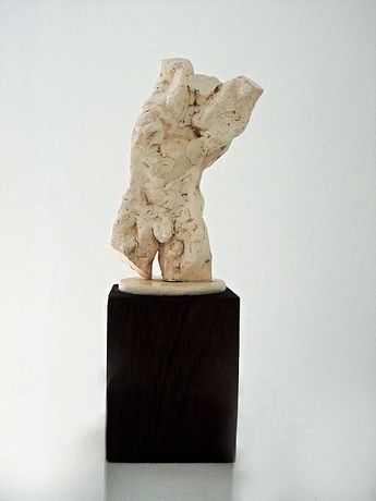 Maurice Blik, 'Stretching Torso', plaster mounted on hard wood base.