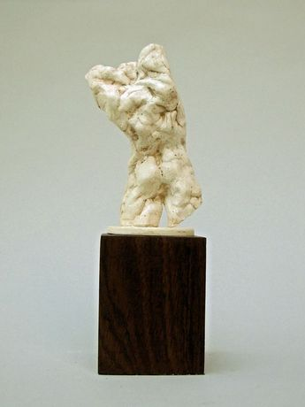 Maurice Blik, 'Stretching Torso' (back view), plaster mounted on hard wood.