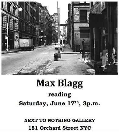 MAX BLAGG reading at NEXT TO NOTHING Gallery: Image 0