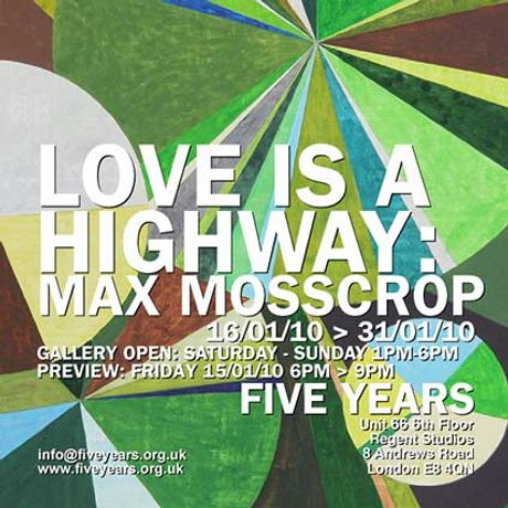 Max Mosscrop: Love Is A Highway: Image 0