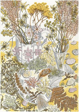 Angie Lewin, 'Nature Study, Late Summer' Silkscreen print on paper