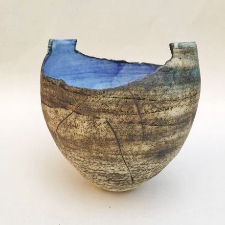 Broken Egg vessel by Ruty Benjamini