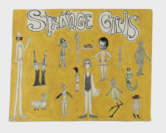 Melissa Stern Strange Girls, 2009 Oil, acrylic, ink, collage, paper mounted on canvas 30h x 37w in