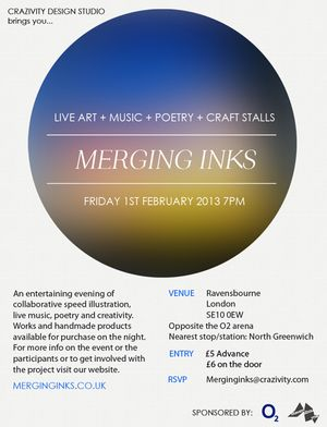Merging Inks Project - Live art, music + craft stalls