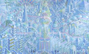 Metropolis London by Caio Locke, Acrylic on Canvas, 152 x 252cm