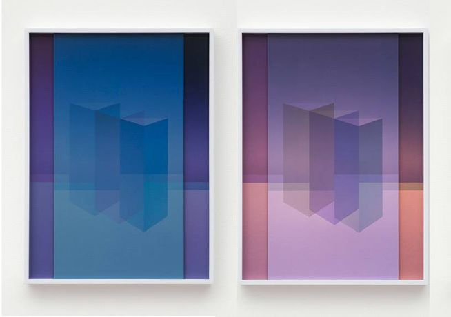 Sara VanDerBeek, Electric Prisms (I,  II) 2015