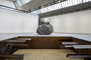 MICHAEL HEIZER Installation View of Michael Heizer at Le Bourget, 2018 ©Michael Heizer