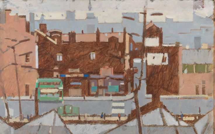 MICHAEL UPTON Weymouth oil on paper 39x63cm