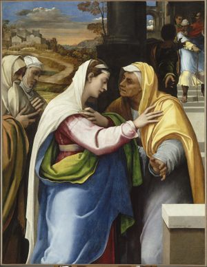 Image above: Detail from: Sebastiano del Piombo, 'The Visitation', 1518-1519. Paris, Musée du Louvre, Département des Peintures (Inv. 357) © RMN-Grand Palais (musée du Louvre) / Hervé Lewandowski