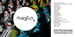 MicroActs 5 • Artist Film Screening